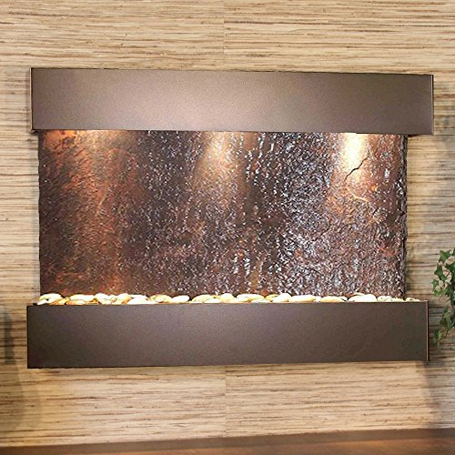 Adagio Reflection Creek with Rajah Natural Slate in Antique Bronze Finish Fountain