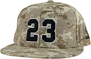 9f11ac3edab1 Caprobot Men s Player Jersey Number  23 X Air Jordan Color Snapback Hat Cap  Desert Digital