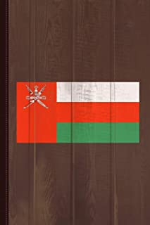 Oman Flag Journal Notebook: Blank Lined Ruled For Writing 6x9 110 Pages
