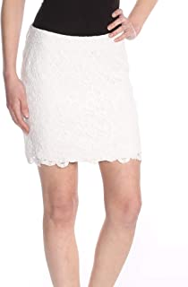1877b9cf0ae9f5 Free People Womens Lace Overlay Floral Pattern Mini Skirt