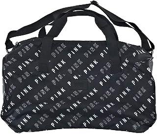 Victoria`s Secret PINK Travel Duffle Bag Black White Block Logos