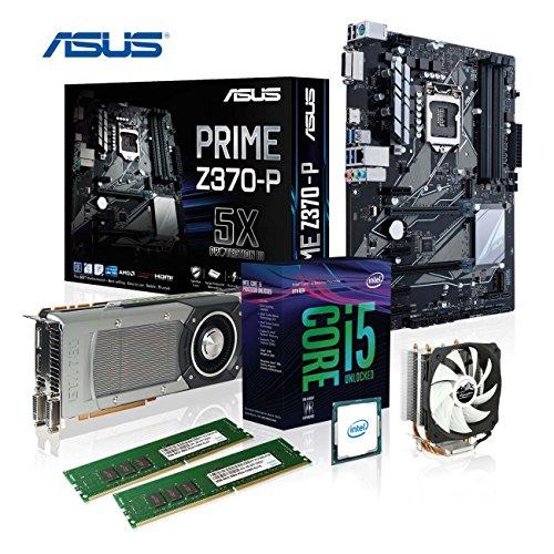 Preisvergleich Produktbild Memory PC Aufrüst-Kit Intel Core i5-8600K,  16 GB DDR4,  ASUS Prime Z370-P,  Alpenföhn Kühler Ben Nevis,  Nvidia Geforce GTX 1050 Ti 4096MB 4k,  komplett fertig montiert und getestet