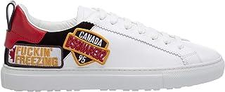 Dsquared Scarpe Uomo Low Top Sneakers San Diego SNM0144 01501676 M072 Bianco (Numeric_41)