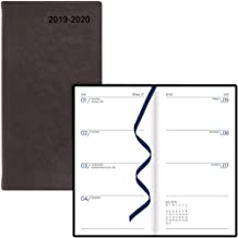 Letts 2019-2020 Verona, Weekly Appointment Book/Academic Planner, Compact (6 x 3.125 Inches), Week to View Diary, July 2019 to August 2020, Black (C39NUVBK-20)