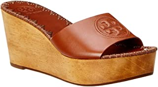 c4ebc327aa2e Tory Burch Patty 80MM Wedge Slide in Perfect Cuoio