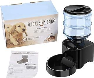 Electric Pets Feeder 15.35 x 7.87 x 15.35 inch Pets Feeding Machine Plastic for Home Livingroom