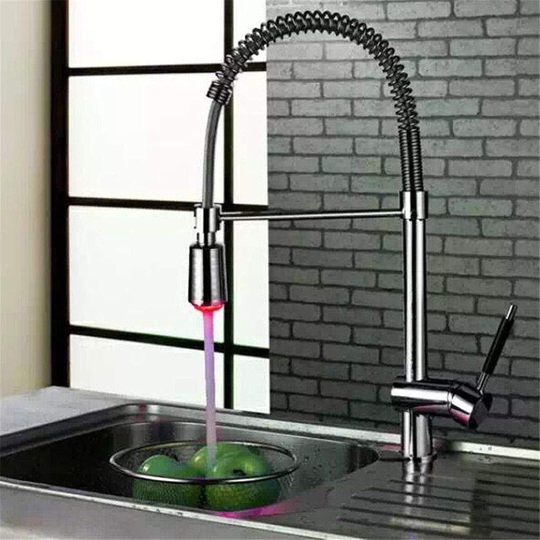 LKW-bathroom Kitchen Sink Mixer Fittings Sink Sink Sink Mixer Tap Sink Mixer Taps Lever Swivel Spout Kitchen Sink Taps Swivel Spout Chrome Kitchen Sink Tap Kitchen Mixer Tap Led Light All Copper Pumping b8cb5a