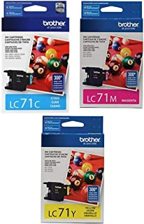 Brother LC71-3PKS Combo Pack Ink Standard Yield (3x 300 Yield)(C/M/Y)