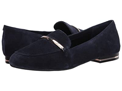 Kenneth Cole New York Balance Loafer Bar (Navy Suede) Women