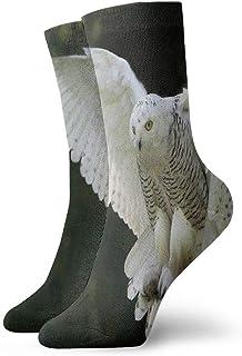 BEDKKJY, Calcetines de Equipo Alas de búho de Nieve Flying Designer Womens Sports Stocking Party Calcetín para niños
