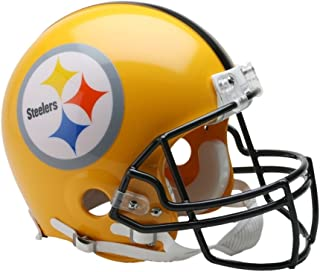 Riddell NFL Pittsburgh Steelers Helmet Replica Mini VSR4 Style 75th Anniversary Throwback 2007 Gold, One Size, Team Color