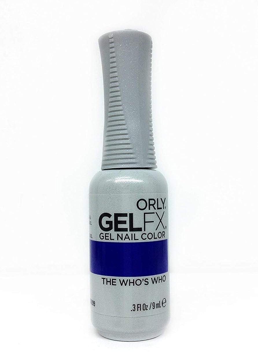大腿プロフェッショナルプライムOrly GelFX Gel Polish - The Who's Who - 0.3oz / 9ml