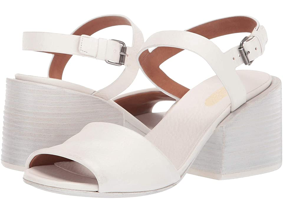 Marsell Stacked Heel Cut Out Sandal (Optic White) Women