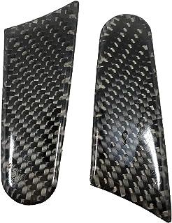 ملصق ديكور من قطعتين / مجموعة من غطاء مرآة الرؤية الخلفية الخارجية لسيارة بورش ماكان 14-19 من ألياف الكربون تبدو الملحقات