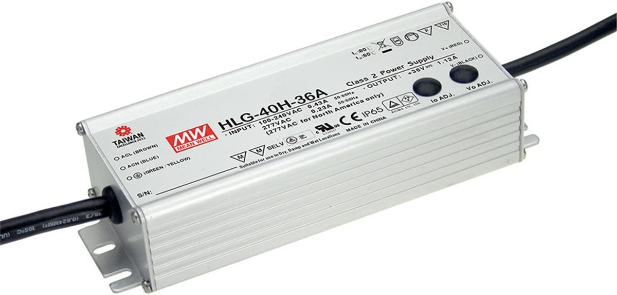 PowerNex Mean Well HLG-40H-12A 12V 39.96W Shipping included 3.33A Single Under blast sales Output