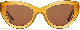 Sunday Somewhere Women's Harper Wrap Sunglasses, Amber, 53 mm