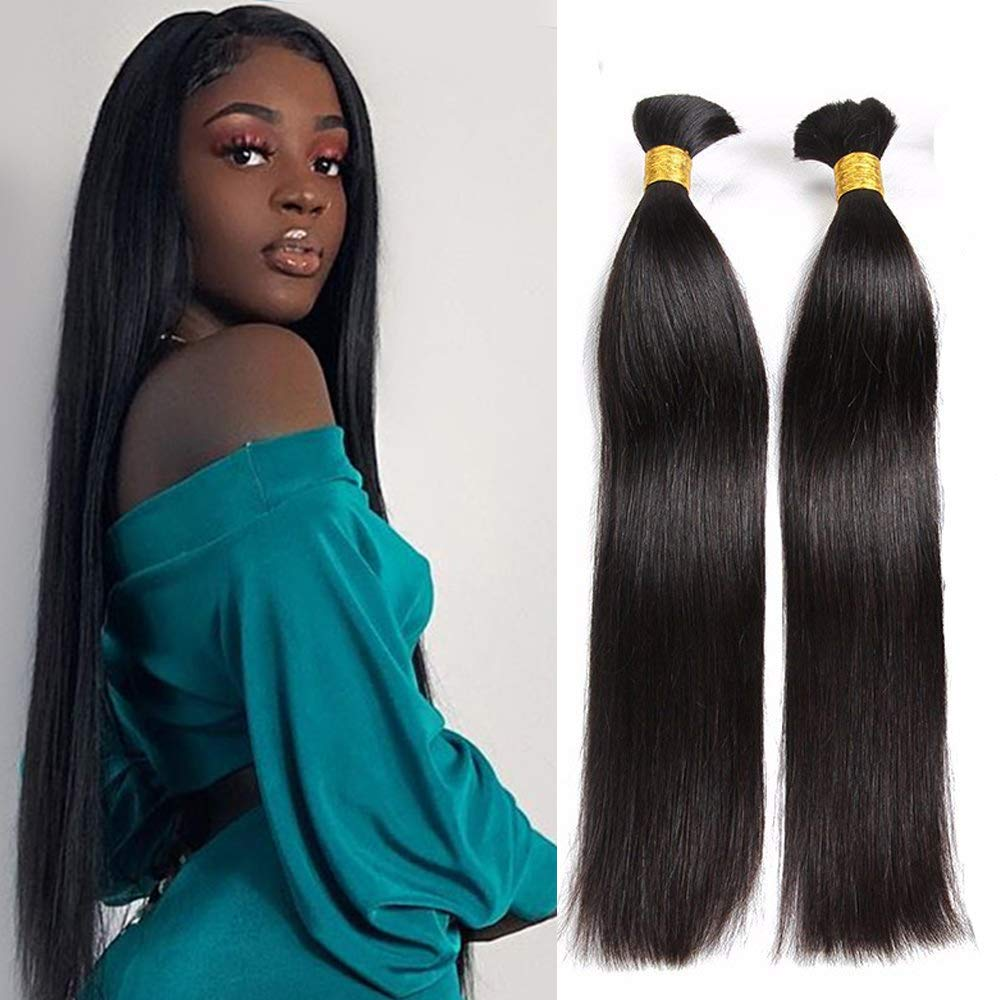 Oulaer Straight Safety and trust Hair Bundles 100% Max 78% OFF Bulk Human Braiding
