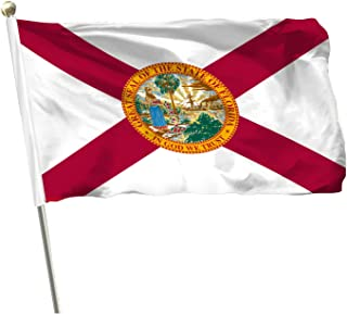 MOFAN US Florida State Flag 3x5 أقدام - Brillian ألوان بوليستر متين مع حلقتين قويتين لتزيين الأماكن الداخلية الخارجية