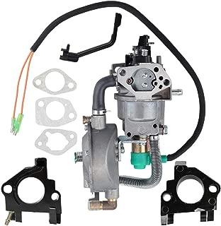 BQBS Dual Fuel Carburetor LPG NG Conversion Kit for Gasoline Generator 4.5-5.5KW GX390 188F Carburetor with Manual Choke Gasket Spacer Insulator