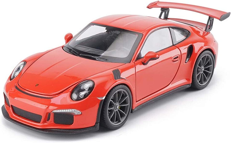 HJCM car Model Car Die Casting Model Alloy Model Car Decoration Ornaments Porsche GT3 RS Model Kit Gift Toy Car