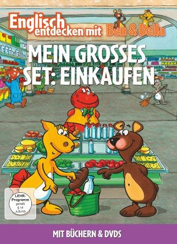Englisch entdecken mit Ben & Bella - Mein großes Set: Einkaufen (2 Discs, + Bücher)