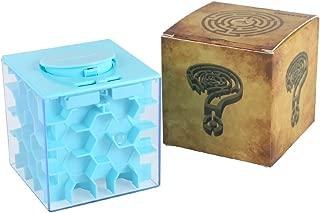 Acekid Money Maze Box Money Honeycomb Maze Bank Coin Cash Bill Storage Box Game Change Toy, Super Great Gifts (Light Blue)