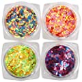 28 Boxes Nail Glitter Chunky Sequins Iridescent Flakes Ultra-thin Tips Colorful Mixed Paillette with Craft Containers, Face Body Hair Nail Art