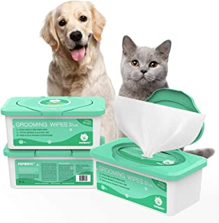 PUPMATE Pet Wipes for Dogs & Cats, Extra Moist & Thick Grooming Puppy Wipes with 100 Fresh Counts, Aloe Vera/Nature (1 Pack)