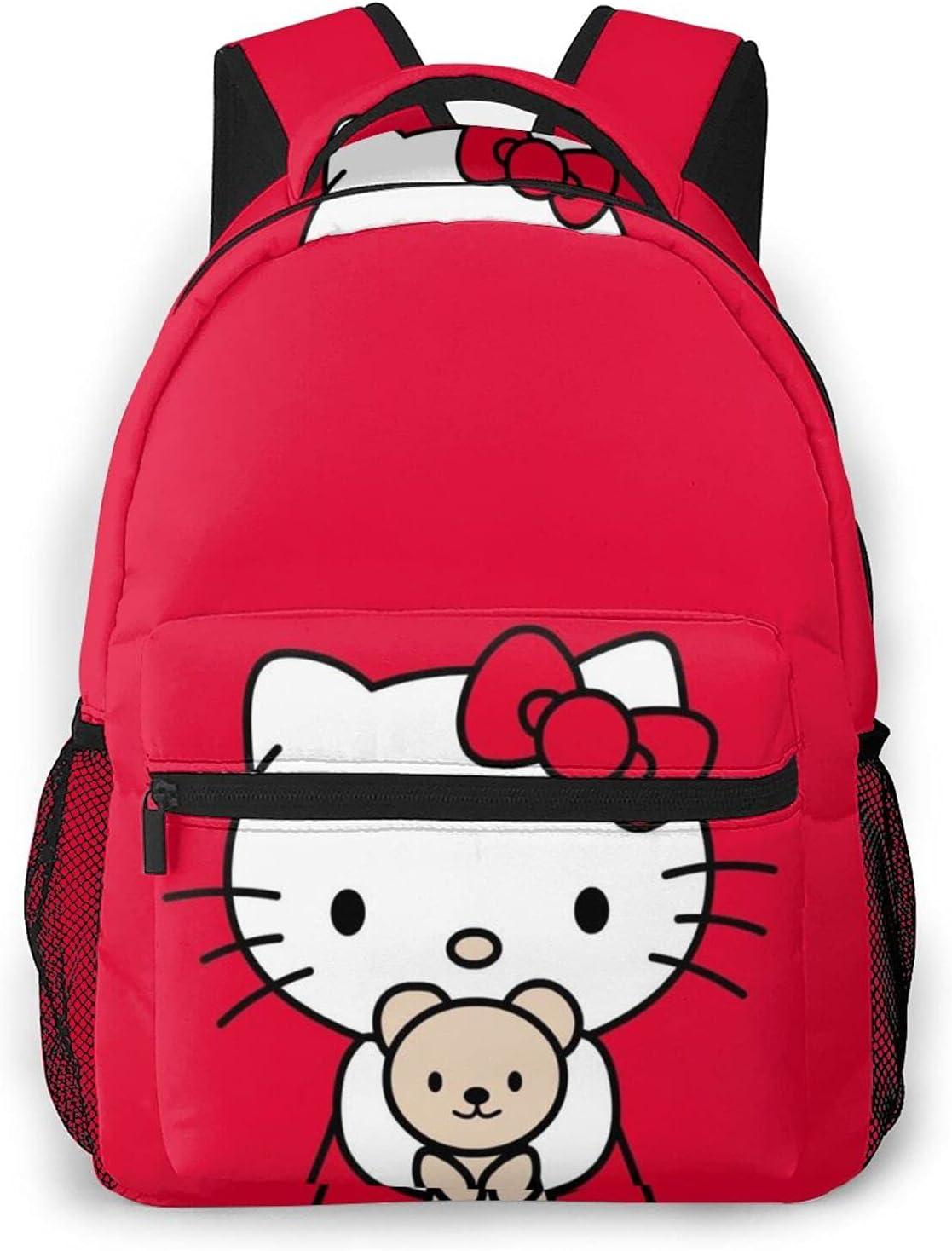 Hello Kitty Backpack Travel College Shoulder Bag for Girls Women