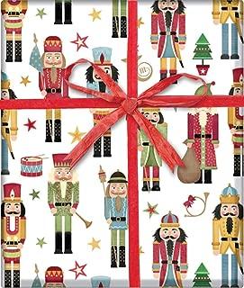 Traditional Nutcracker Gift Wrap Flat Sheet 24