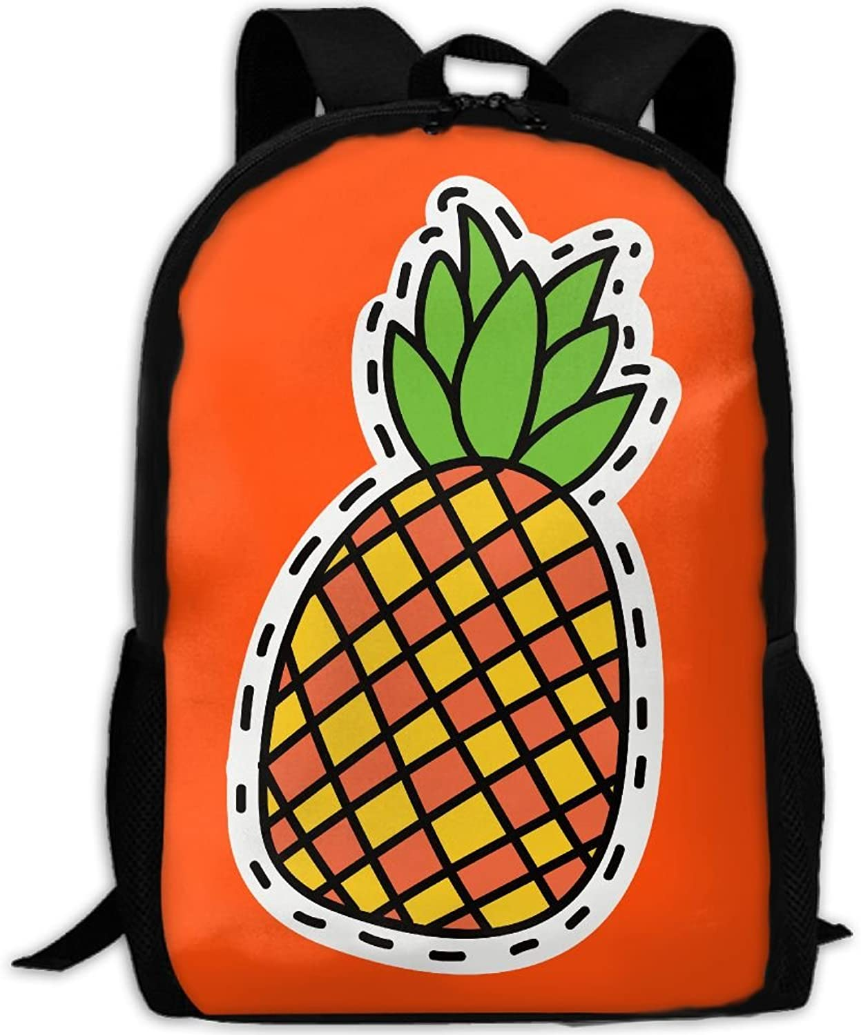 b79e31fd4dde Laptop Travel Hiking School Pineapple Daypack Shoulder Bag Backpack ...