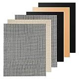 Fransande - Juego de 6 alfombras de barbacoa – Alfombra de malla de barbacoa antiadherente Sif, alfombra de hoja de cocción reutilizable (3 piezas duras lisas mate + 3 piezas de malla)
