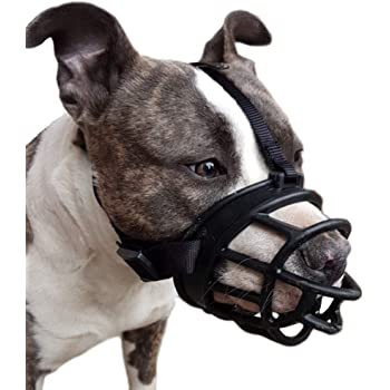 LUCKYPAW Dog Muzzle, Soft Basket Muzzle for Medium Large Dogs, Best to Prevent Biting, Chewing and Barking