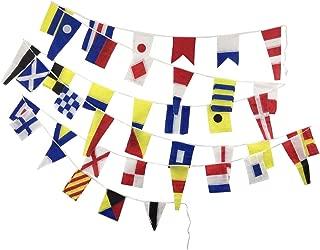 Naval Signal Flags/Flag - 40 Flags Bunting - 38 Feet - 100% Cotton – Nautical/Boat/Beach Party (5178)