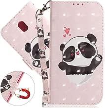J7 Pro Case Wallet, Samsung Galaxy J7 Pro 2017 Premium PU Leather Case, COTDINFORCA 3D Creative Painted Design Full-Body Protective Cover for Samsung Galaxy J7 Pro J730. PU- Love Panda