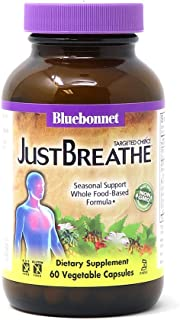 Bluebonnet Nutrition Targeted Choice Just Breathe, Seasonal Relief Whole Food-Based Formula, Allergies, Clear Breathing, S...