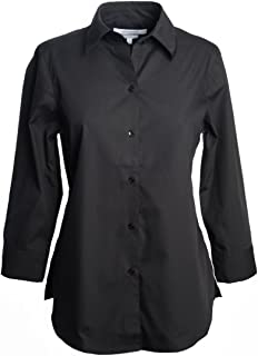 Foxcroft Woman's 3/4 Sleeve Solid Blouse Wrinkle Free