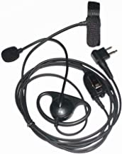Caroo 2 pin D Shape Police Earpiece Headset with Boom Mic Finger PTT for Motorola Radio cls1110 cls1410 cp200 etc