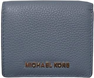 Michael Kors Jet Set Travel Leather Compact Carryall Card Case Pale Blue