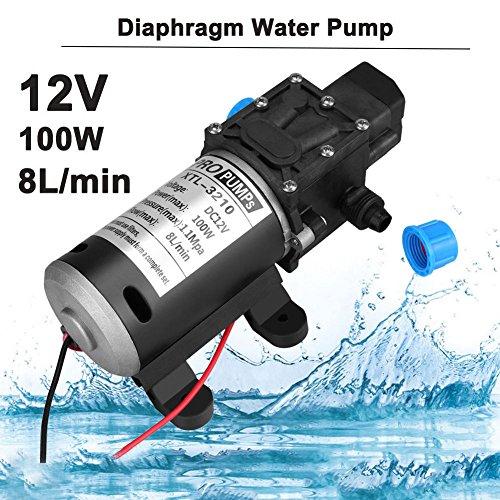 160Psi 8L/Min 100W 12V DC Alta Presión Diafragma Autocebado Bomba de Agua para Lavado