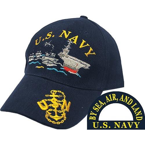 Eagle Emblems Men s US Navy Ship Fleet Embroidered Ball Cap 5fda749f4fc2