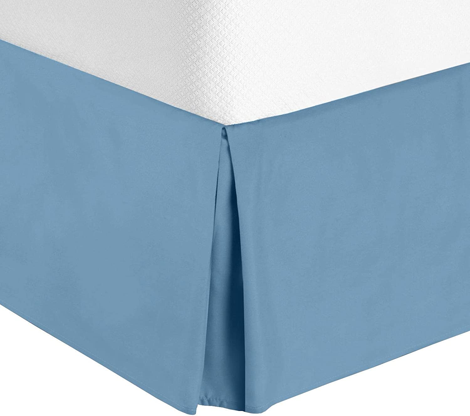 """Luxury Pleated Bed Ranking TOP19 Skirt - Skir Heaven 14"""" Ruffle King-Blue New product type"""