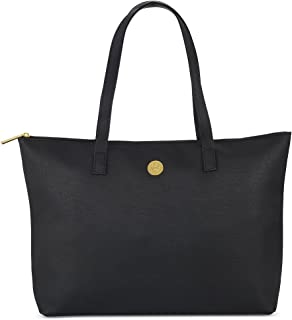Joy Mangano Leather Tote, Black