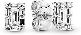 Rose Luminous Ice Stud Earrings