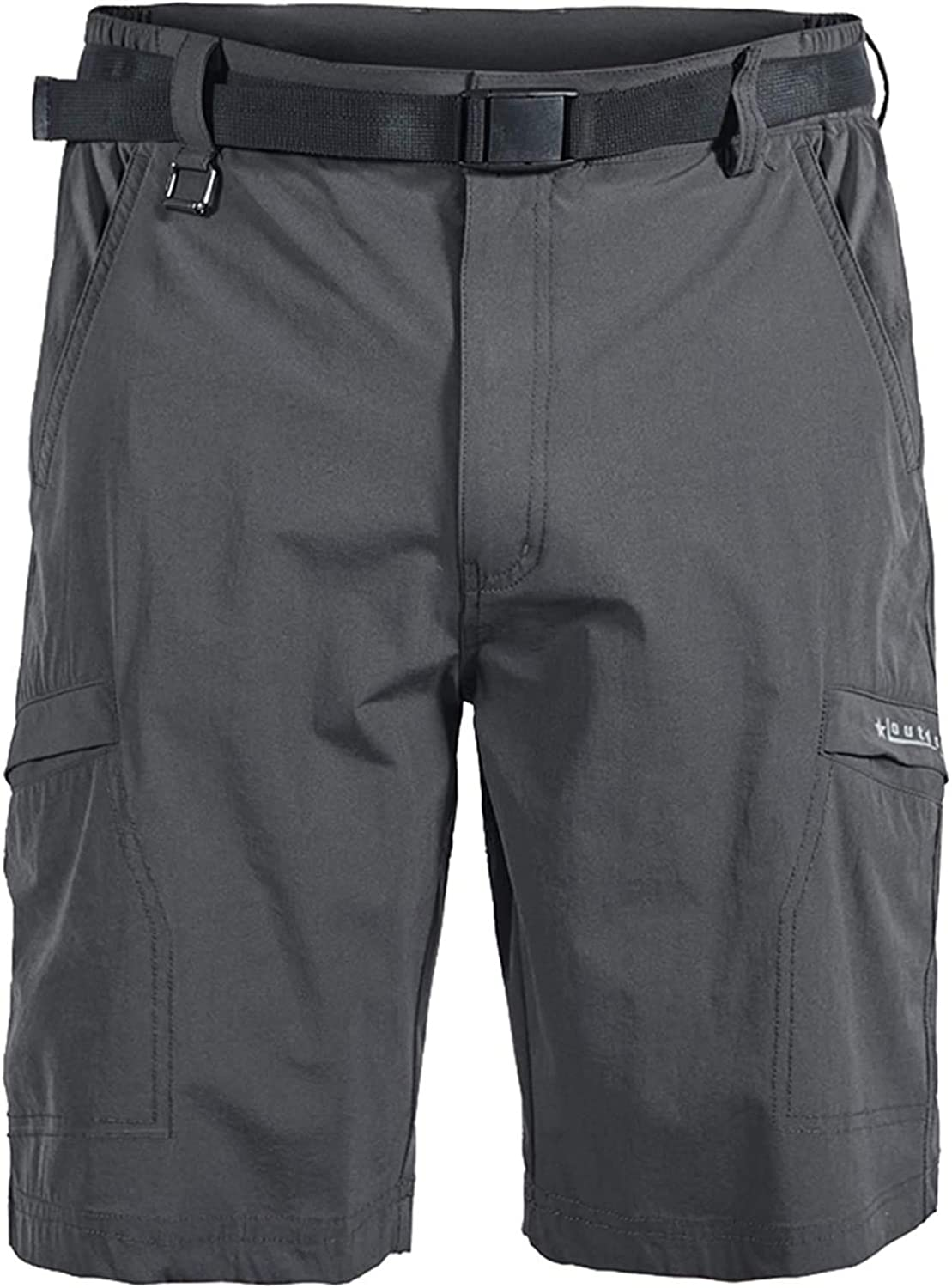 Mens Outdoor Casual Lightweight Water Resistant Quick Dry Cargo Hiking Shorts Water Resistant NO Belt