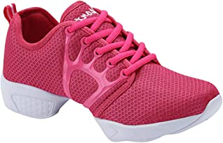 HIMISSU Ladies Dance Shoes Slippers Canvas Jazz Shoes Ballet Dance Fitness Breathable Shoes Spring Autumn Cloth Shoes Breathable Lace-up Sports Shoes Sneaker Dance Shoes Ankle Boots