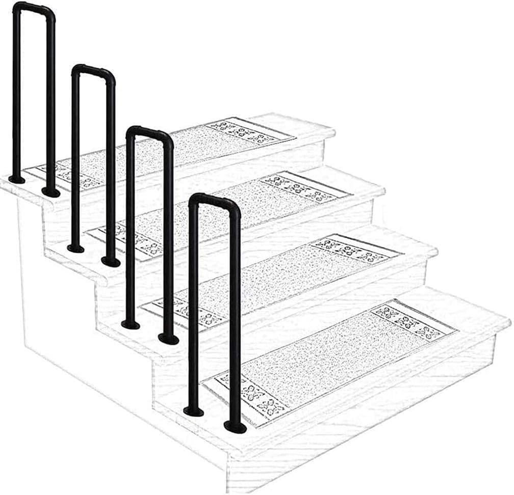 Oceanindw U-Shaped Arched Transitional Handrails Super special price Ant Bargain Matt Black