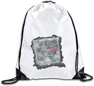 Duola New York Hockey Team Logo Athletic Gymsack Backpack