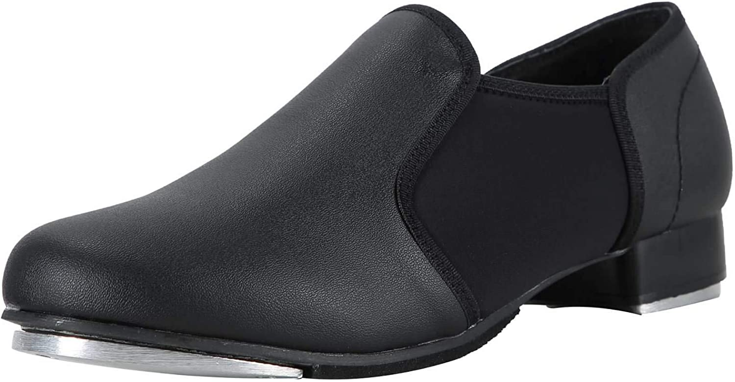 Linodes Unisex PU Leather Slip On Tap Shoe Dance Shoes for Women