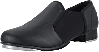 Linodes Unisex PU Leather Slip On Tap Shoe Dance Shoes for Women and Men's Dance Shoes